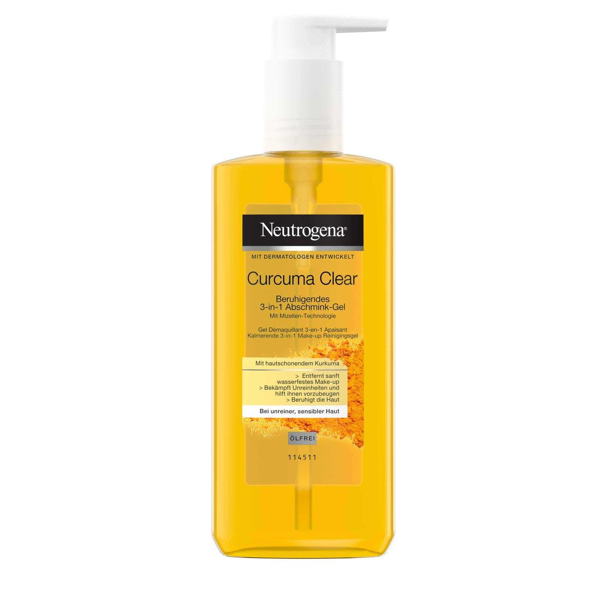 Curcuma Clear Beruhigendes3-in-1 Abschmink-Gel